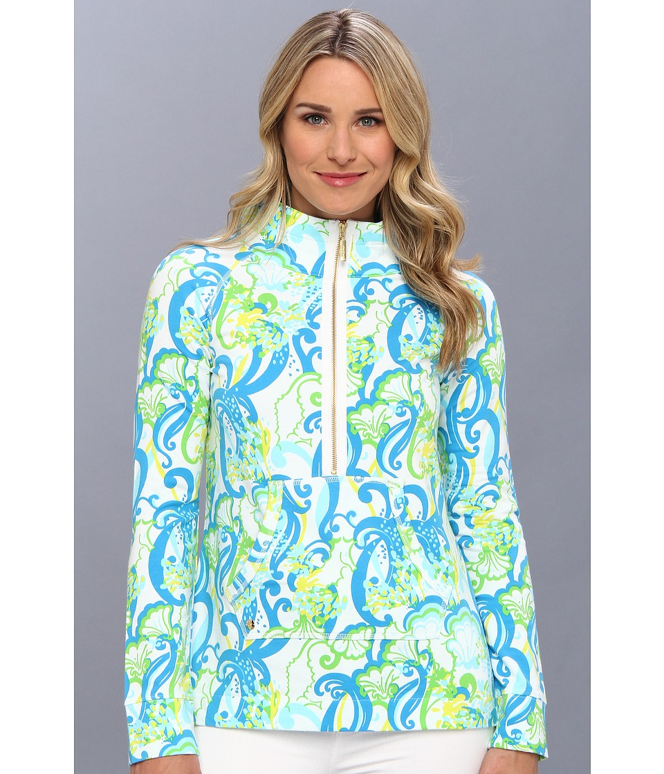10f1a08aa00110 Lilly Pulitzer Skipper Popover Printed (Resort White Crystal Coast) Women's  Long Sleeve Pullover
