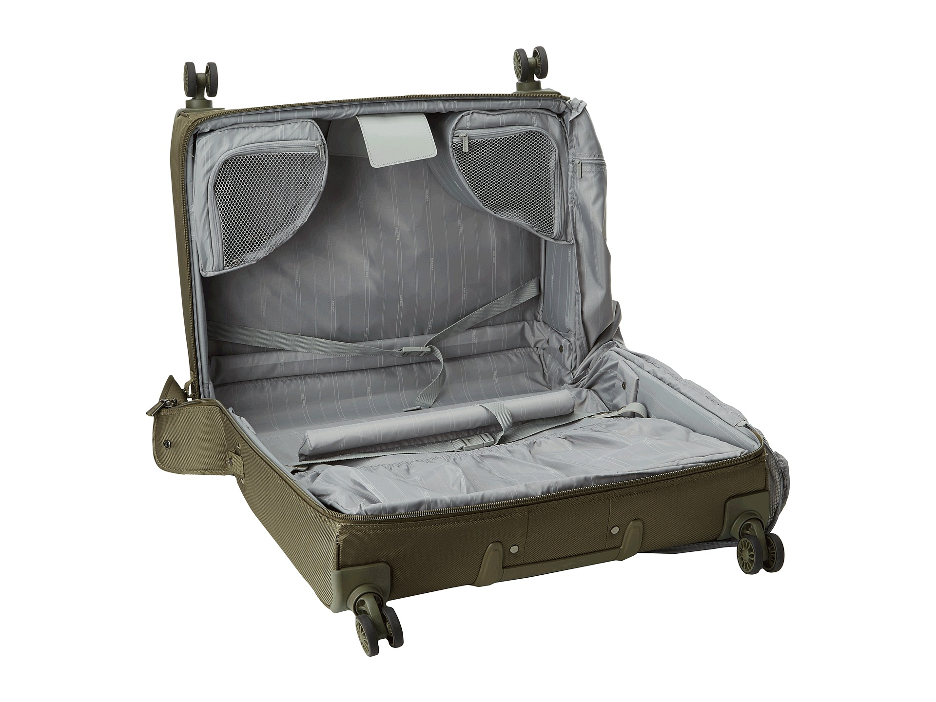 delsey helium xpert lite 2 0 spinner trolley garment bag green shipped free at zappos. Black Bedroom Furniture Sets. Home Design Ideas