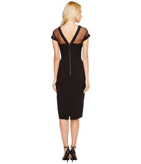 8443c8e4 Search - maggy london illusion top crepe dress black - photo#11. Maggy  london Illusion Yoke Crepe Sheath ...
