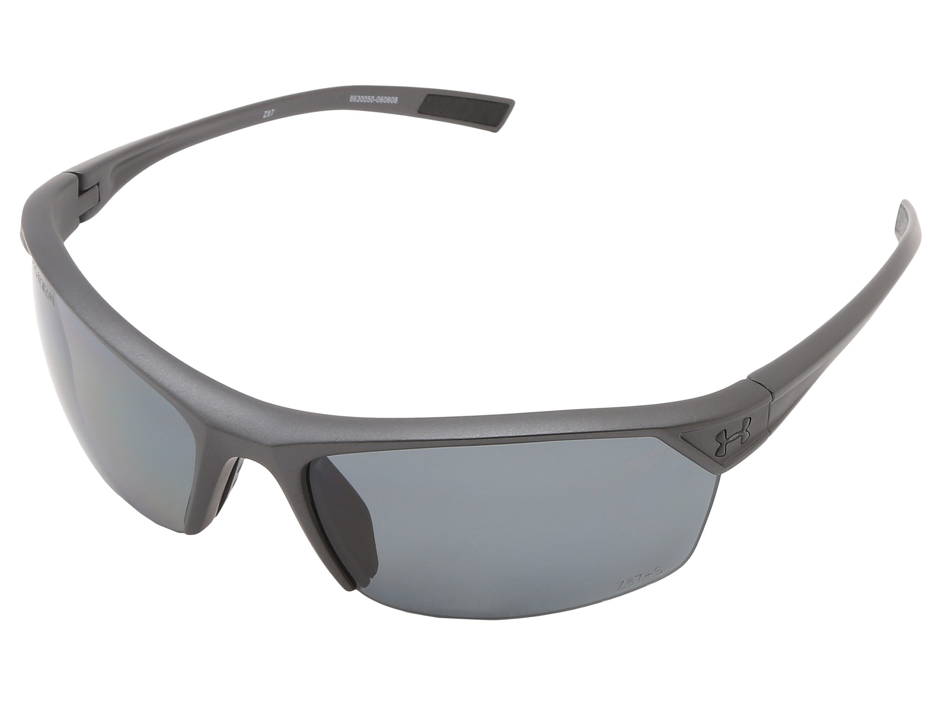 7c672a9e71 Under Armour UA Zone 2.0 Storm Satin Carbon Frame W  Black Rubber   Gray  Polarized Lens