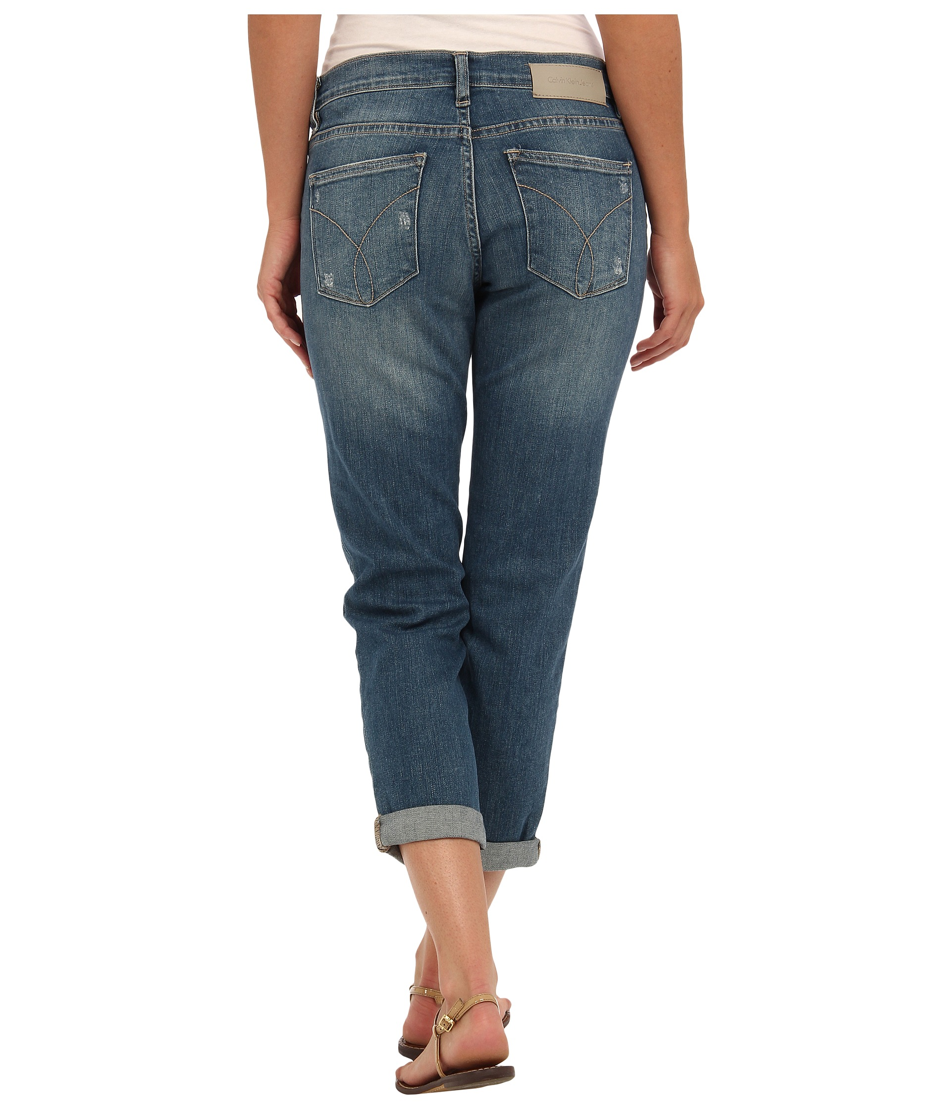Calvin Klein Jeans Womens Decadent Blue Denim Boyfriend ...
