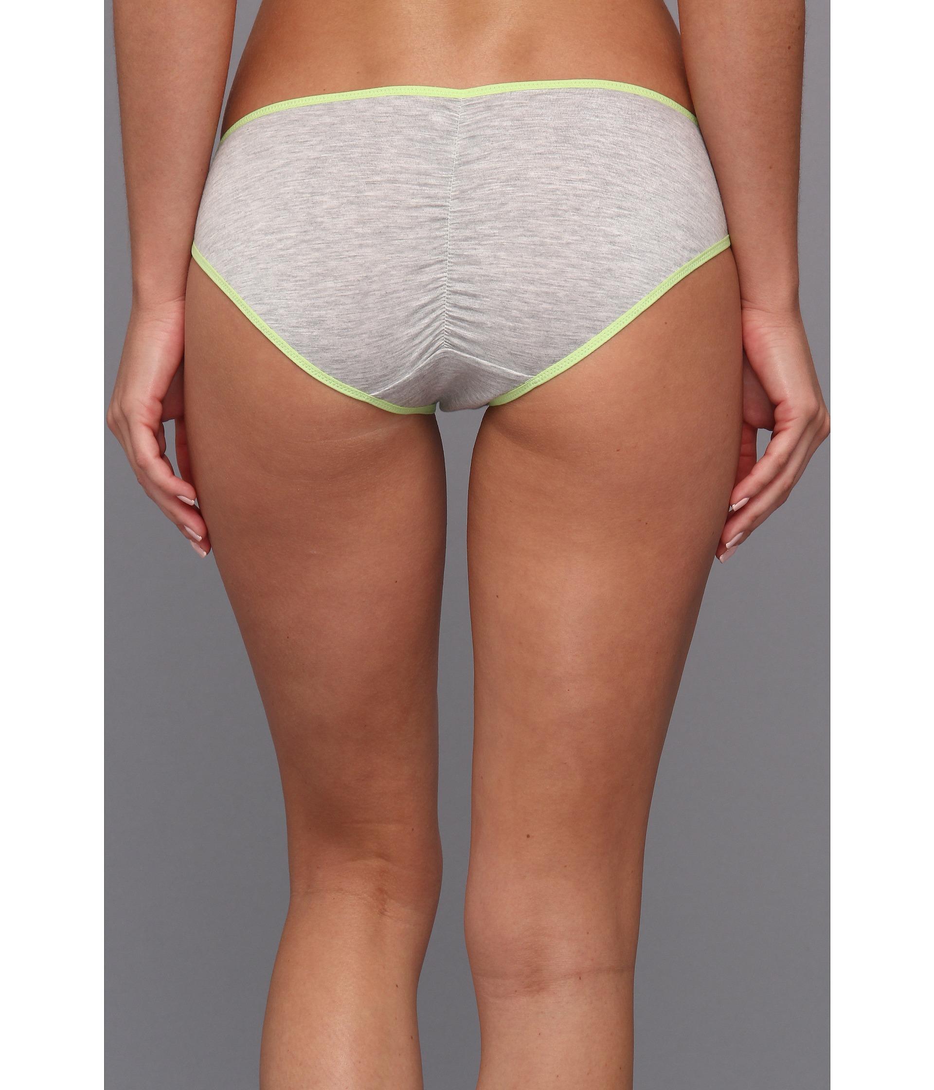Splendid Ruched Back Bikini Grey Zapposcom Free