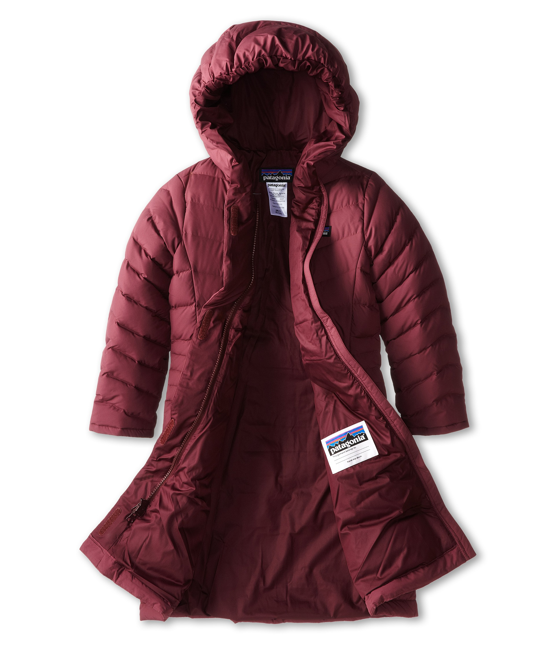 Patagonia Kids Coats: Patagonia Kids Girls Down Coat Little Kids Big Kids Dark