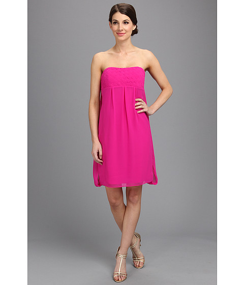 Badgley Mischka Basket Weave Cocktail Dress Hot Pink 6pm Com