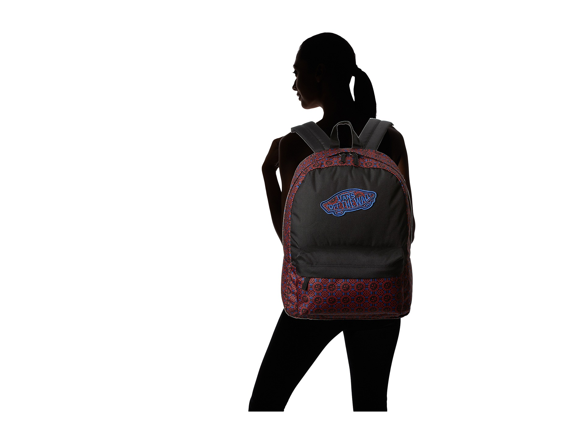 9d67c1efdb Vans Realm Backpack Dress Blue Neon Pink on PopScreen