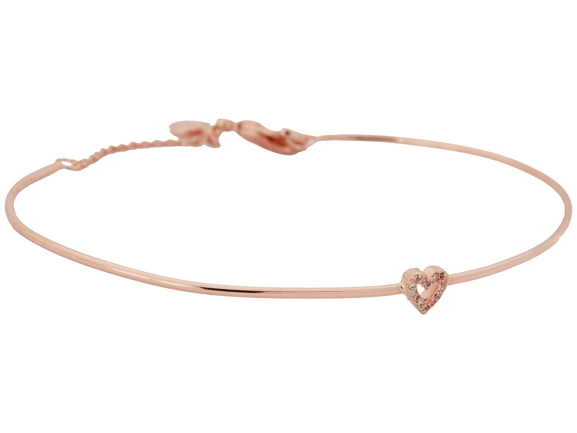 gorjana Delicate Heart Bracelet Rose Gold - Zappos.com Free Shipping ...