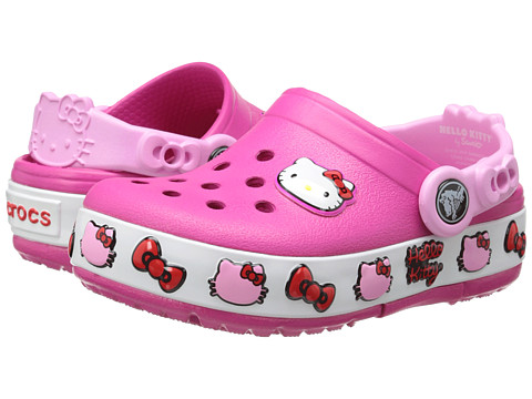 crocs鞋扣_Crocs Kids CrocsLights Hello Kitty Clog 童款粉色洞洞鞋_Easy海淘网_最实用 ...