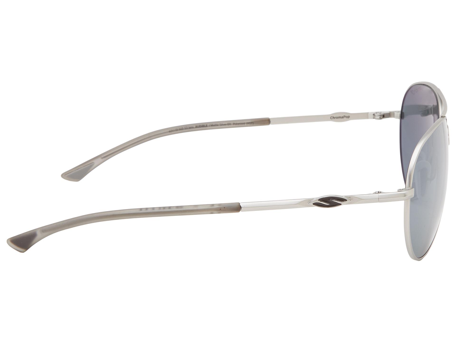bbe579e30ef71 Smith Optics Audible Matte Black Frame Polar Gray Green Chromapop Lenses