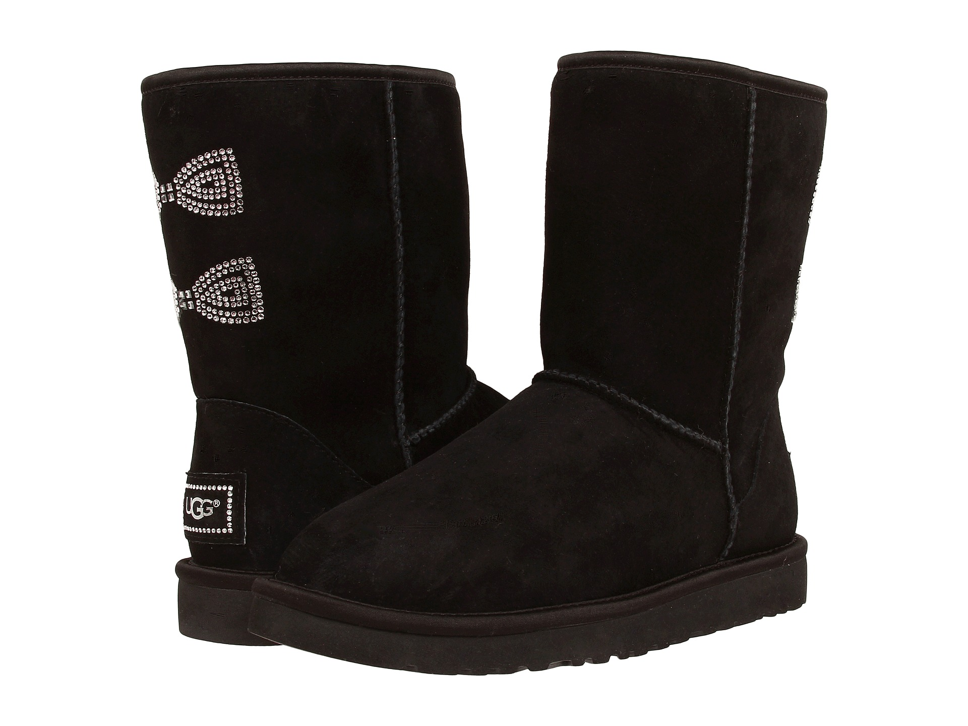 3c3a59310c6 Ugg Classic Short Crystal Bow Boots