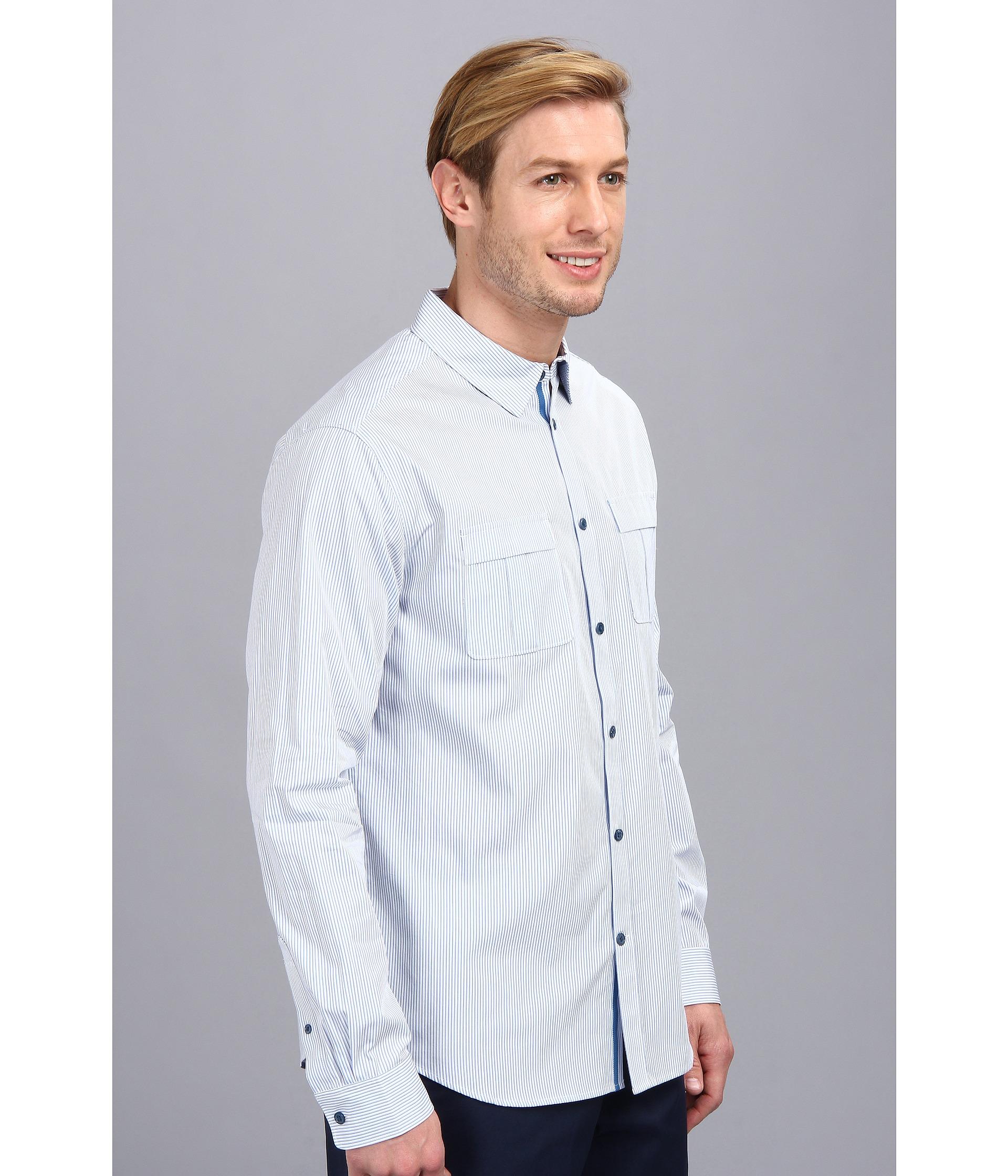 de8bd56c84 elie tahari steve shirt fine cotton stripe on PopScreen
