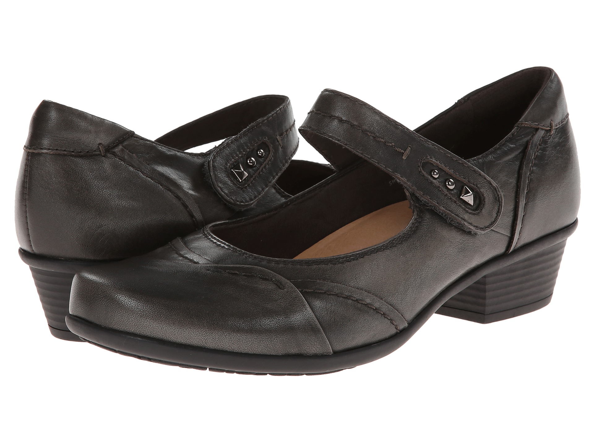 Earth Clover Mary Jane Shoes Grey Size