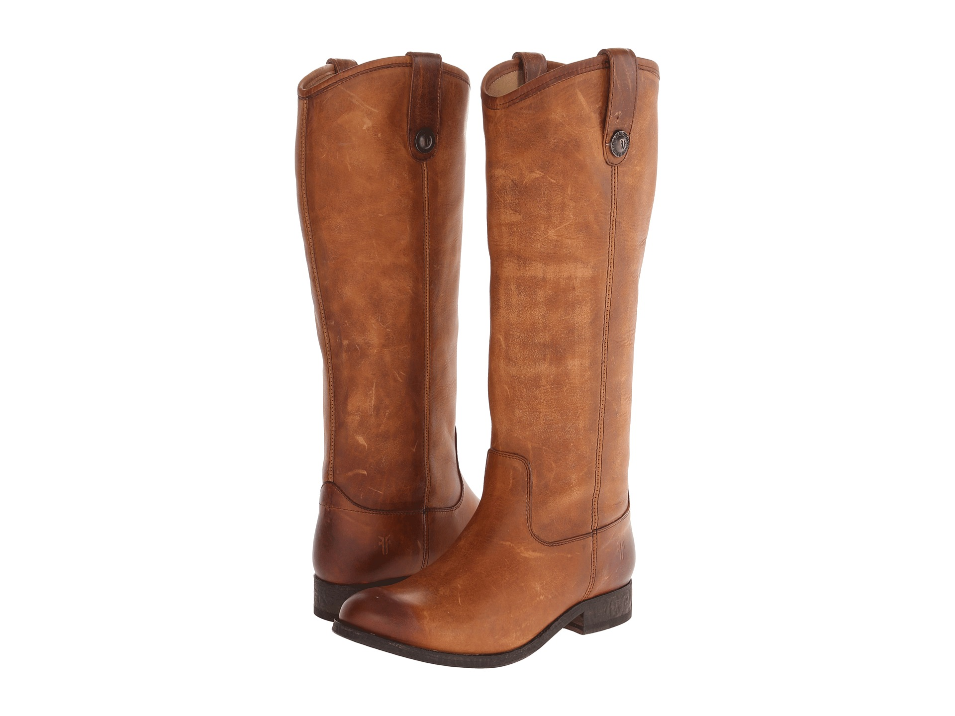 Frye Melissa Button Cognac Washed Antique Pull Up Zappos