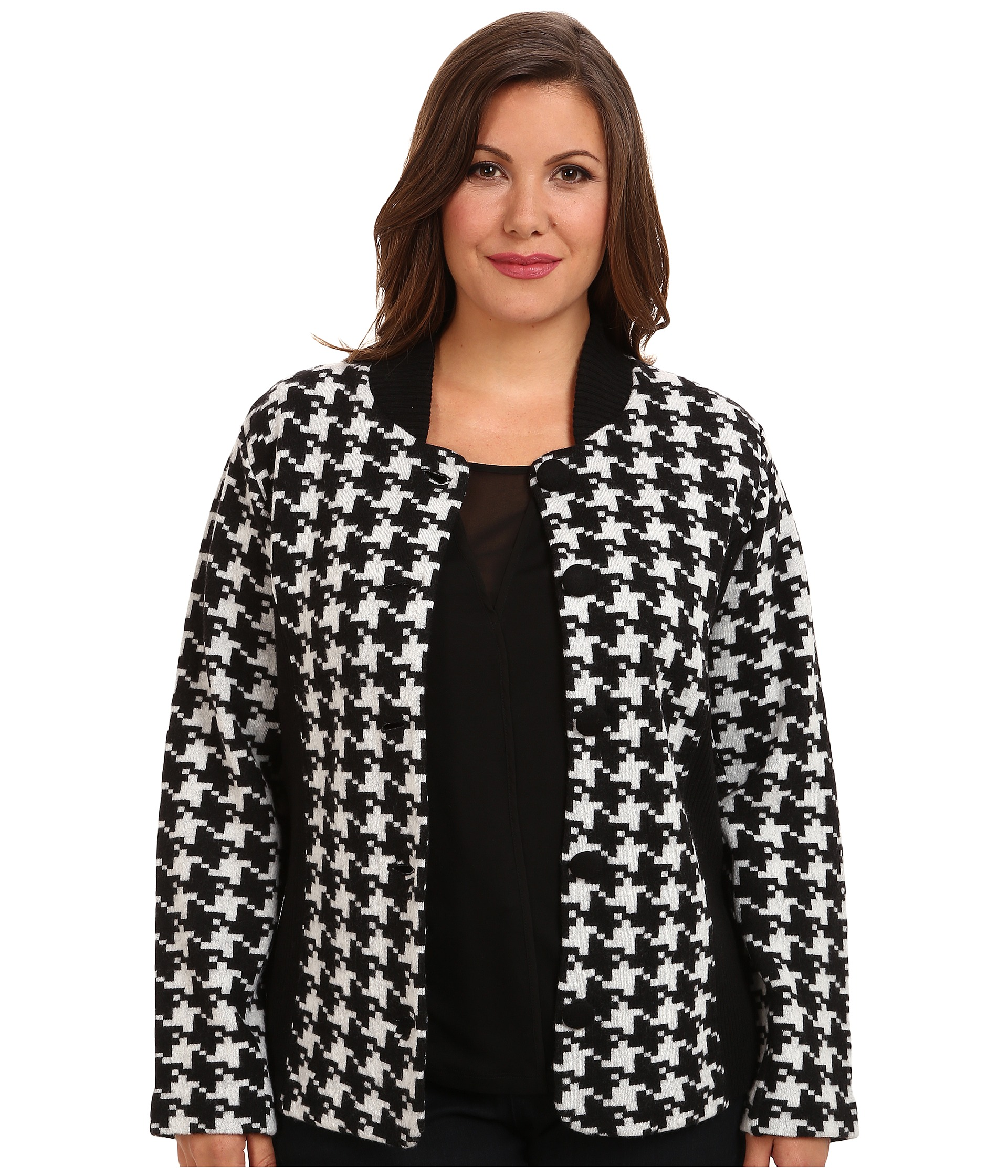 Shop City Chic Trendy Plus Size Sherlock Houndstooth-Print Belted Trench Coat online at desire-date.tk City Chic reinvents a classic, chic silhouette with this plus size trench coat styled with a sophisticated houndstooth print. A elongated knee length adds coverage to the look.