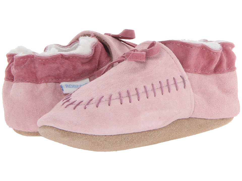 1e28838130f3  25.00 More Details · Robeez - Cozy Moccasin Soft Soles (Infant Toddler) ( Pink) Girls Shoes