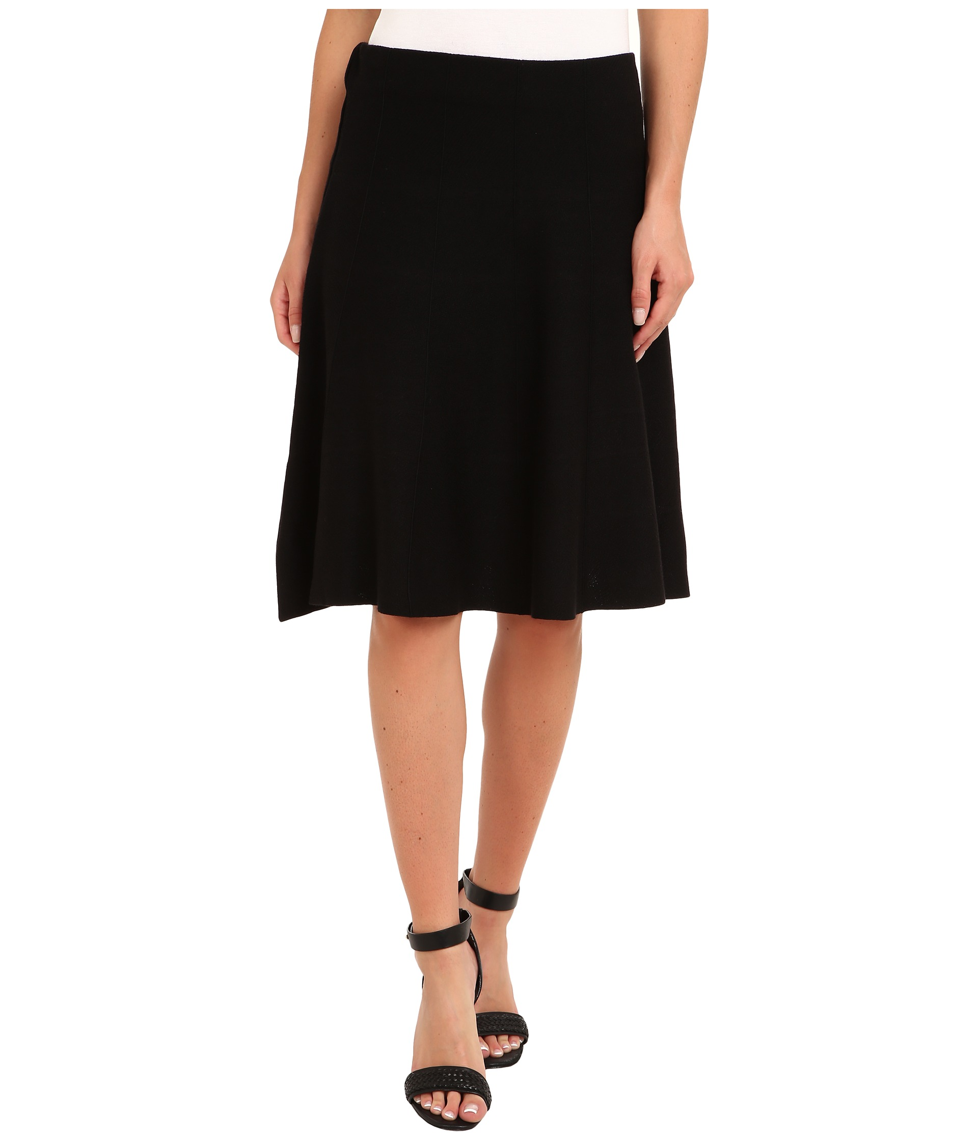 black onyx belted flirt skirt with faux