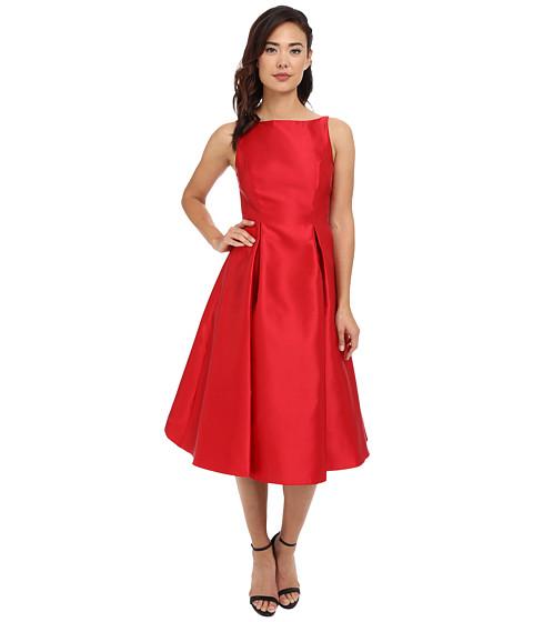 Adrianna Papell Sleeveless Tea Length Dress Red Zappos