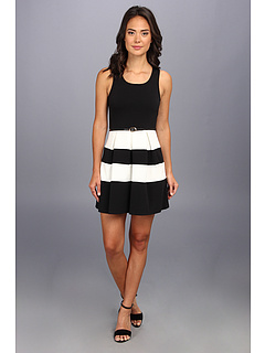 Ivy Amp Blu Maggy Boutique Sleeveless Fit Amp Flare Stripe