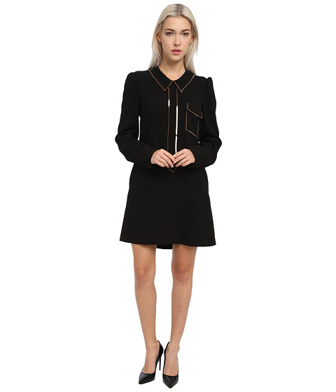 See By Chloe L/S Shirt Dress W/ Front Pocket