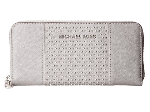074550c72854bf Michael Michael Kors Microstud Jet Set Center Stripe Za Continental Pearl  Grey Best Deals in United States #