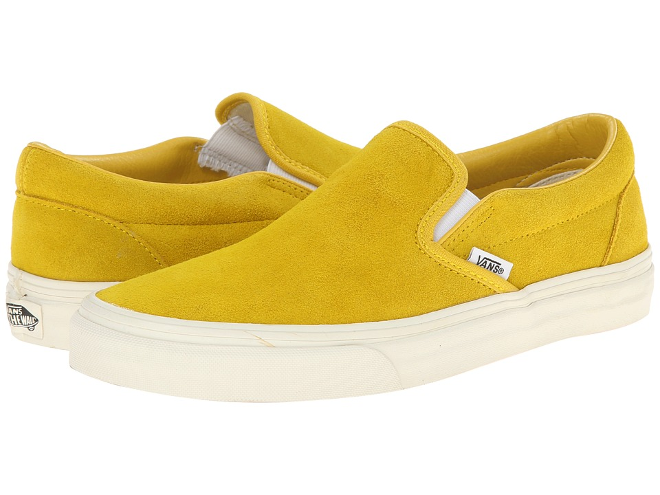 63b804eb92 Vans Classic Slip-On ((Vintage Suede) Sulphur) Skate Shoes best price