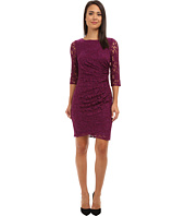 Adrianna Papell Contrast Stylelines Dress Black Cashmere