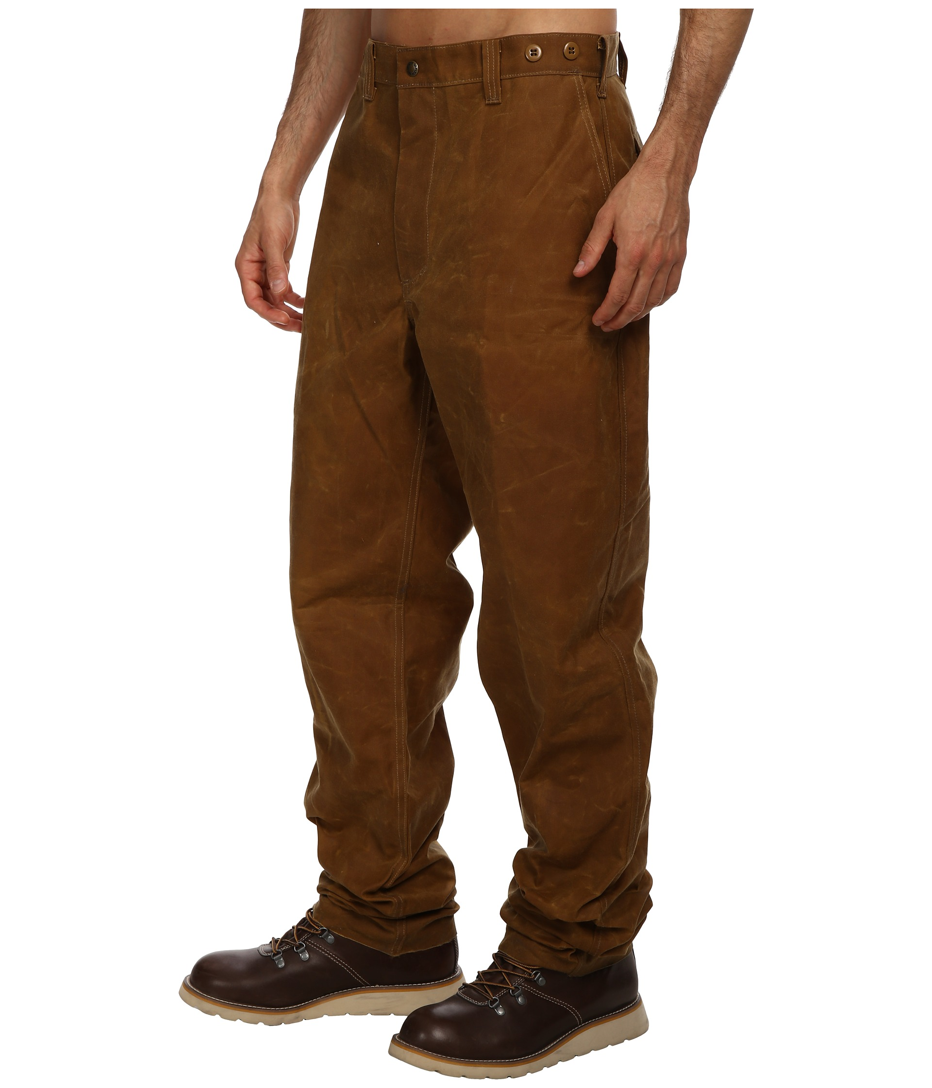 Filson dry finish single tin pants review