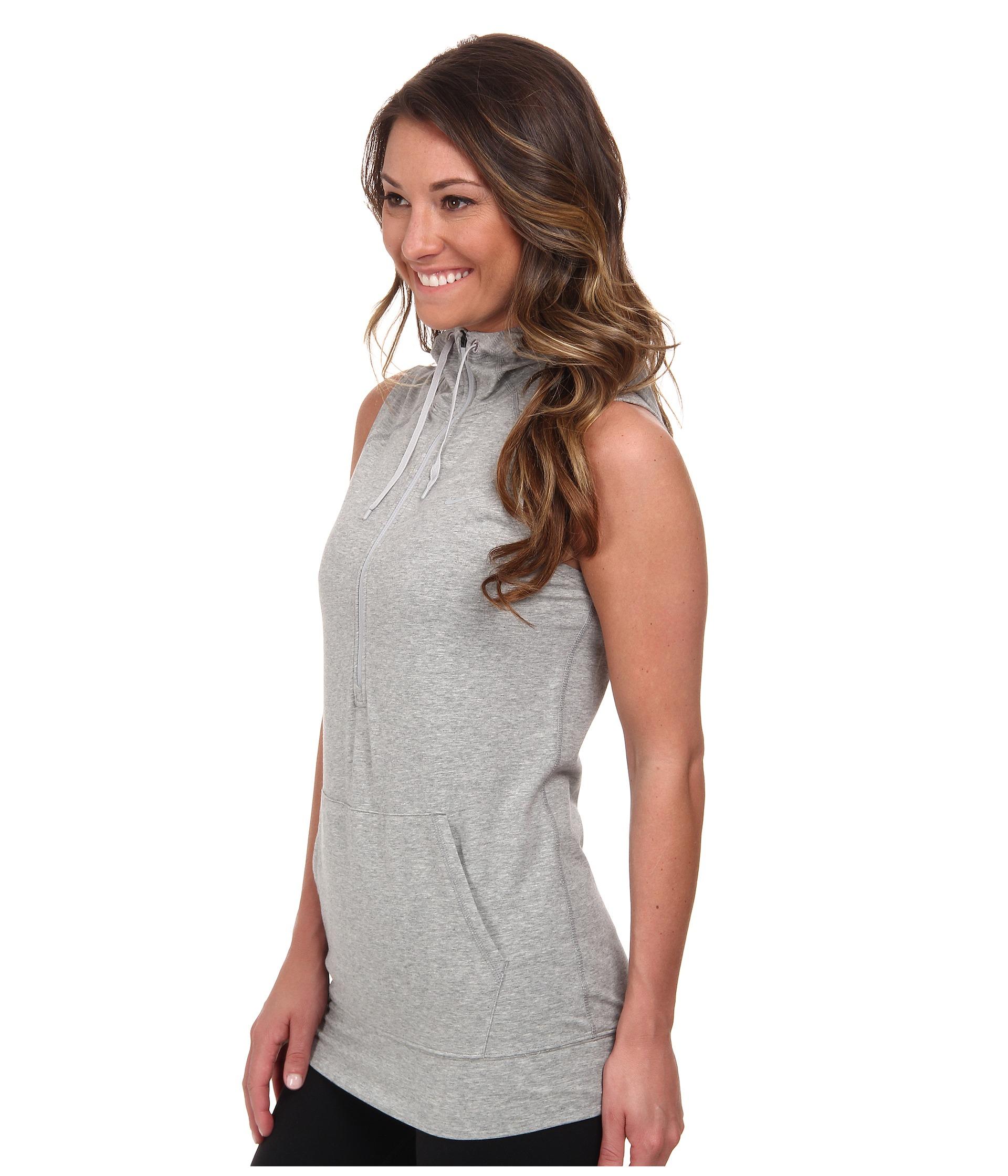 Sleeveless hoodie womens