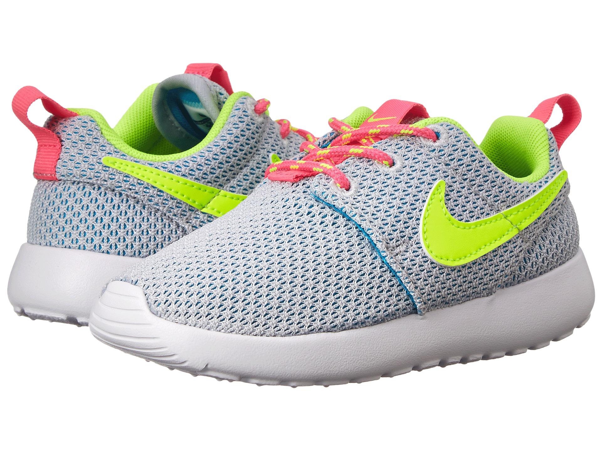 Nike Kids Roshe Run (Toddler/Little Kid) Pure Platinum ...