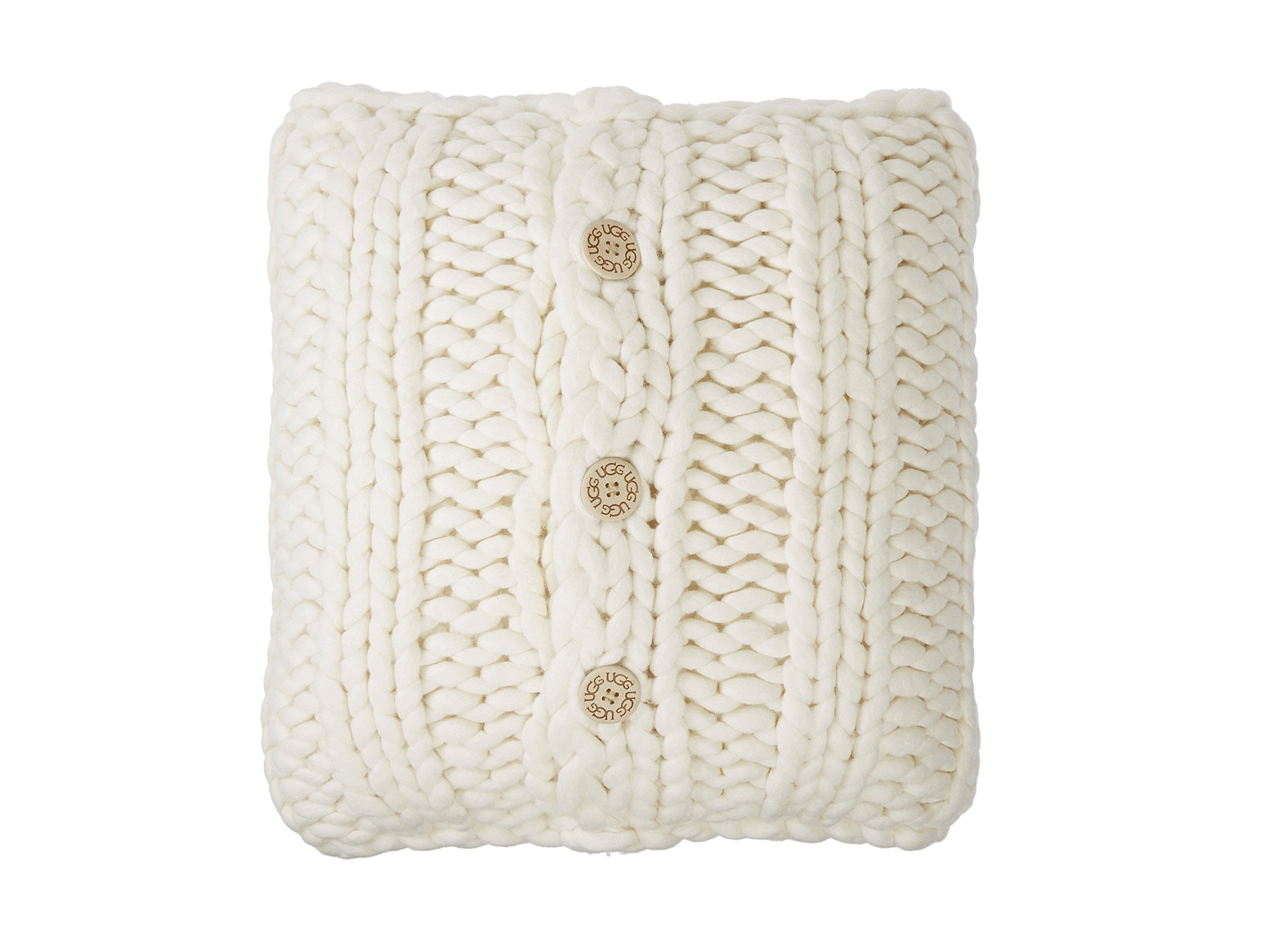 Ugg Oversized Knit Pillow Natural Zappos Com Free