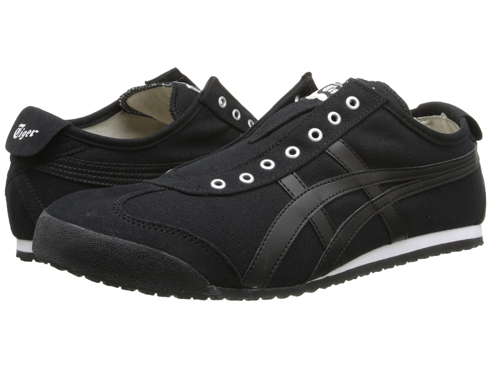 onitsuka tiger by asics mexico 66 slip on black black. Black Bedroom Furniture Sets. Home Design Ideas