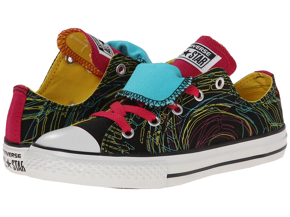f270e43b1be Converse Kids - Chuck Taylor All Star Double Tongue Spin Art Ox (Little Kid