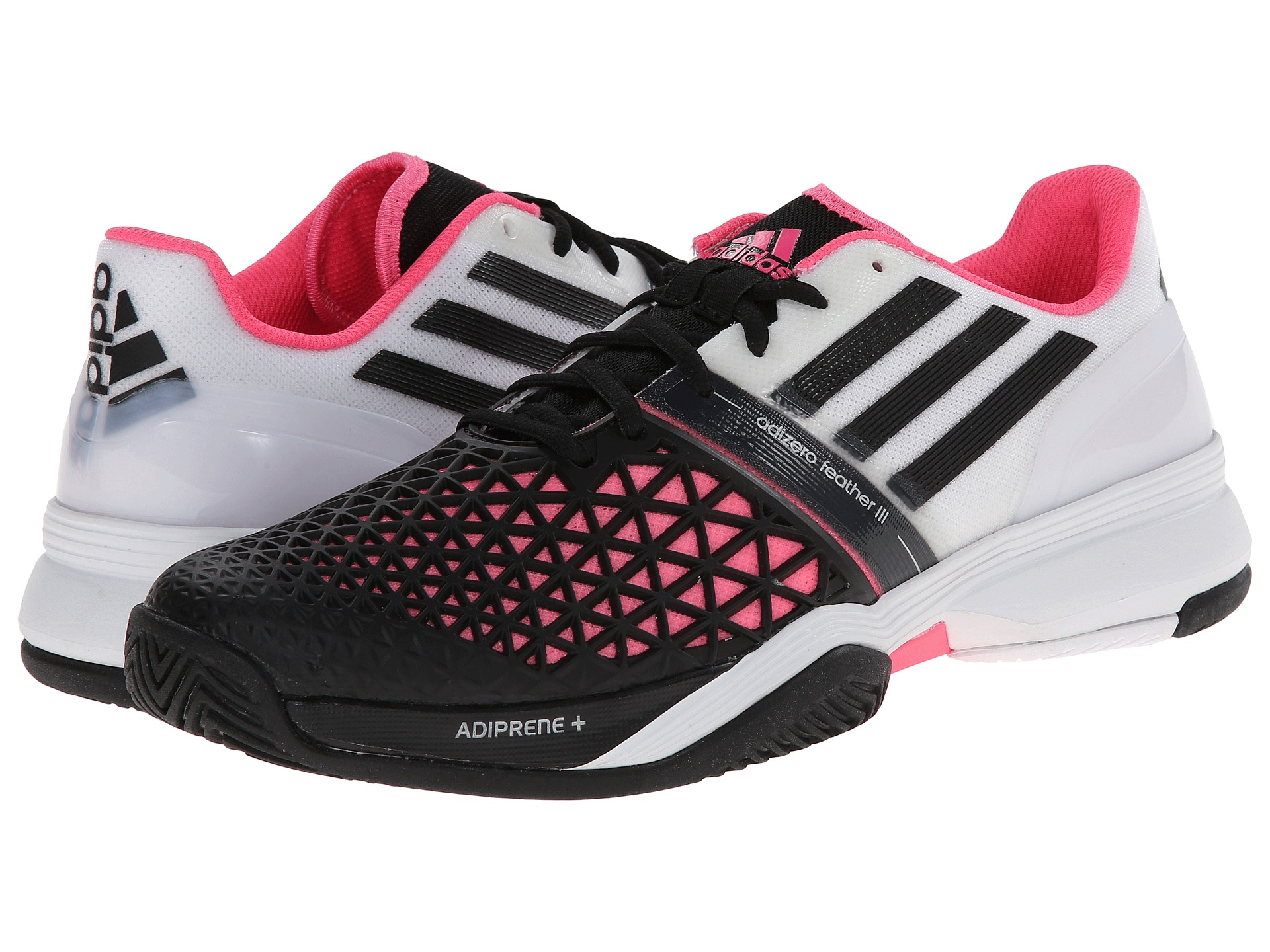 half off d0845 27a60 Adidas Cc Adizero Feather Iii White Black Solar Pink