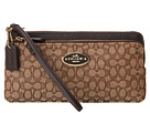 Deals on COACH Signature Double L-Zip Wallet