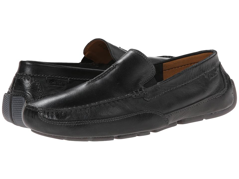 Varick Free Black Leather Clarks Shoes