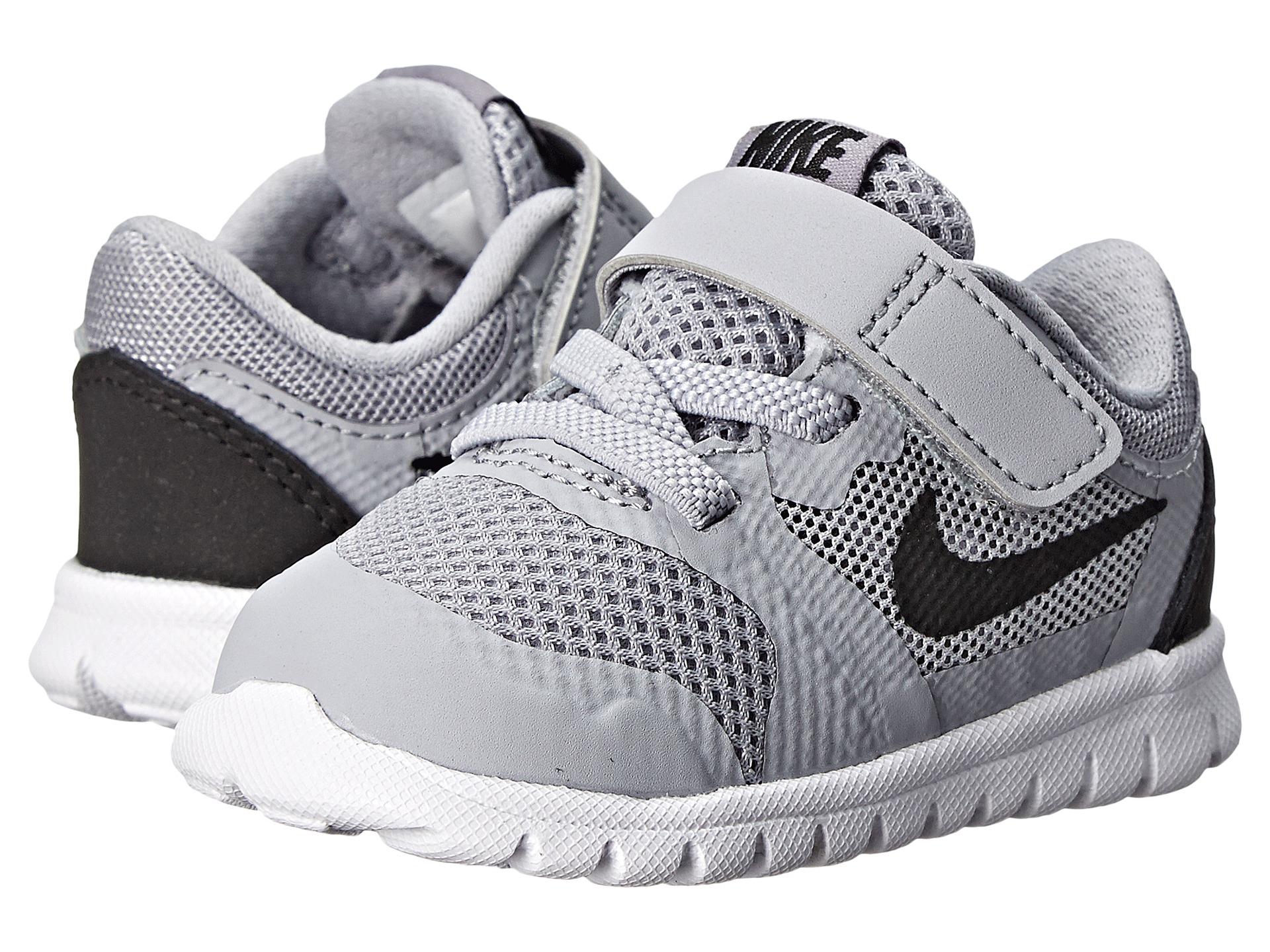 Nike Kids Flex 2015 Run (Infant/Toddler) Wolf Grey/White ...