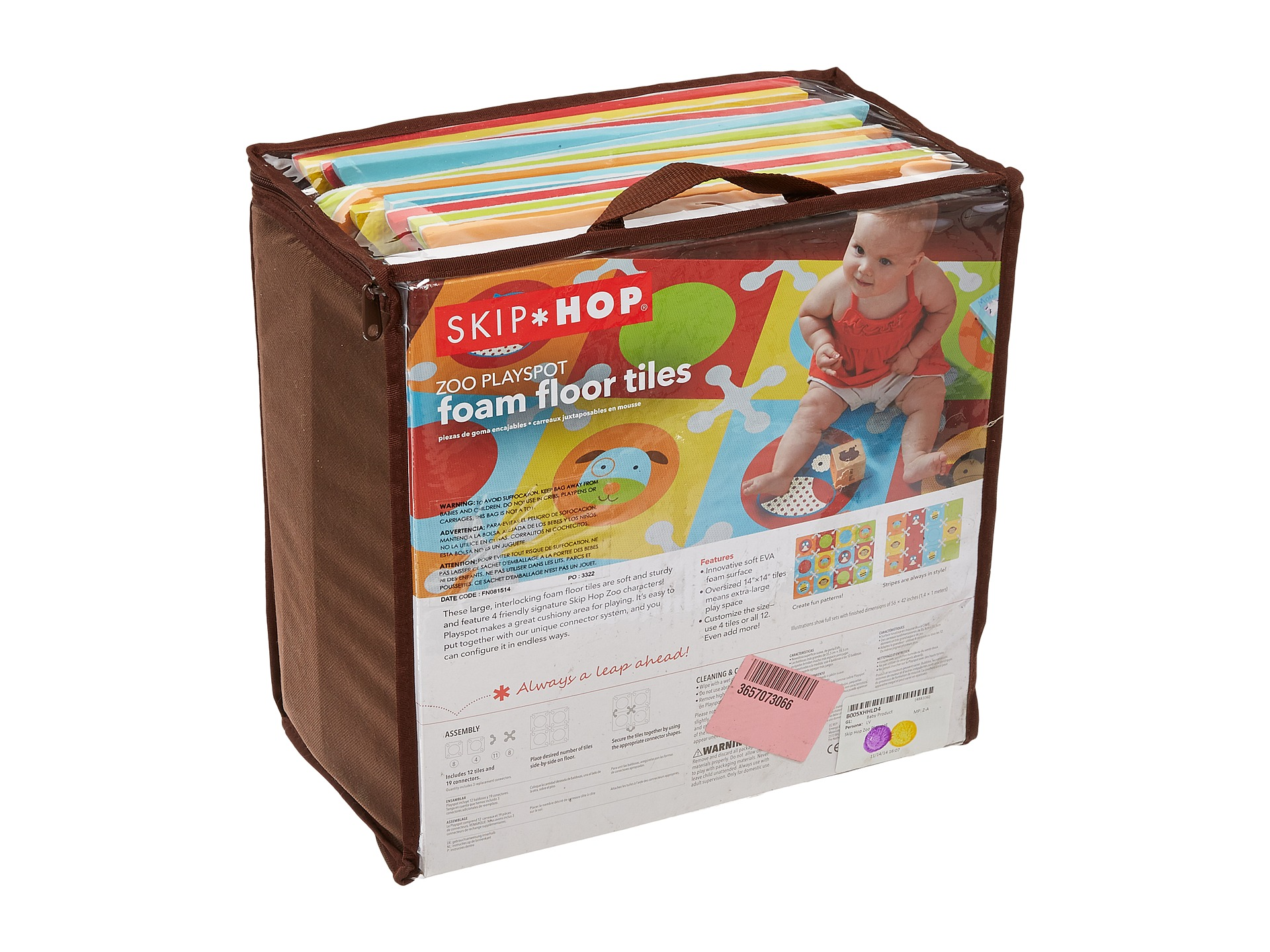 Skip Hop Zoo Playspot Foam Floor Tiles Multi Zappos Com