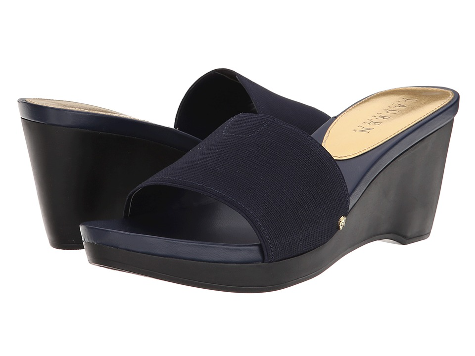 56ec82352450db LAUREN by Ralph Lauren - Rubina (Modern Navy Elastic) Women s Wedge Shoes