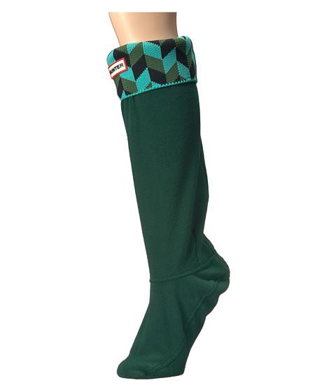 Hunter Geometric Dazzle Boot Sock Tourmaline Green Dark
