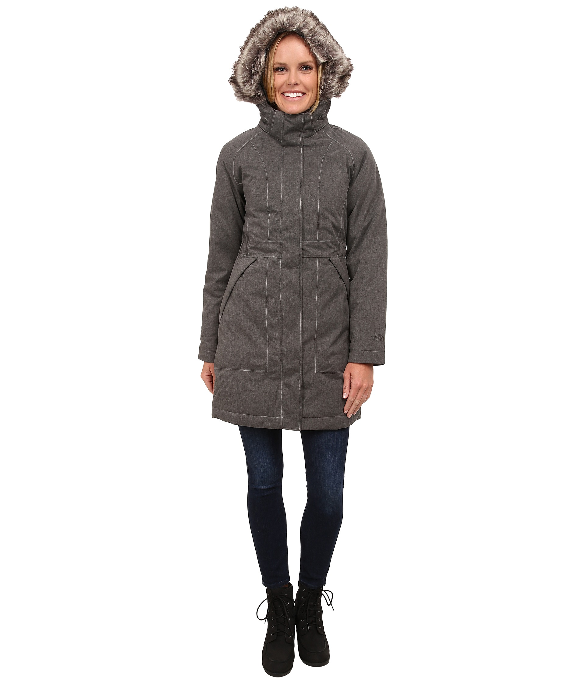 the north face arctic parka graphite grey heather zappos. Black Bedroom Furniture Sets. Home Design Ideas
