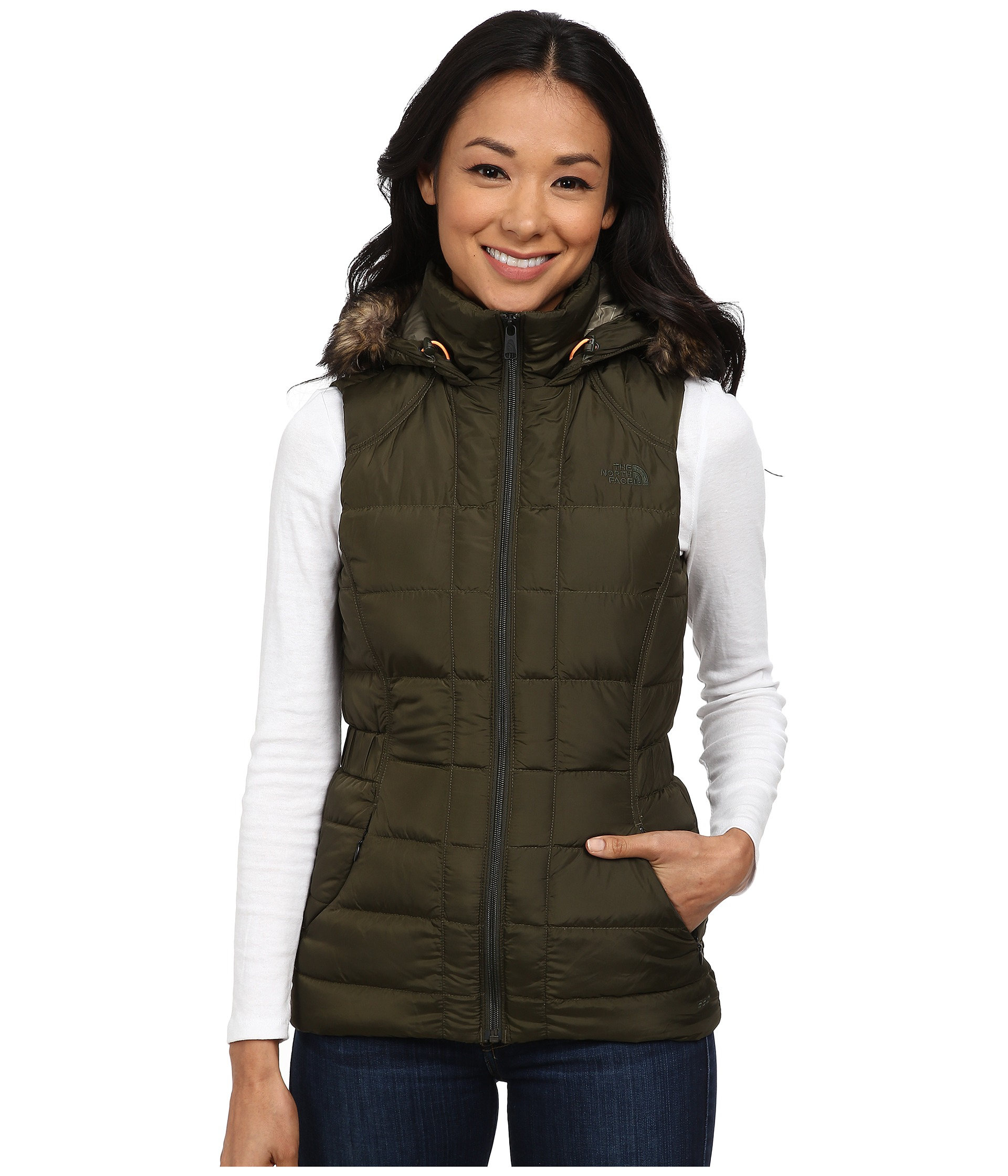 3b6b2a237a59 The North Face Gotham Vest Forest Night Green