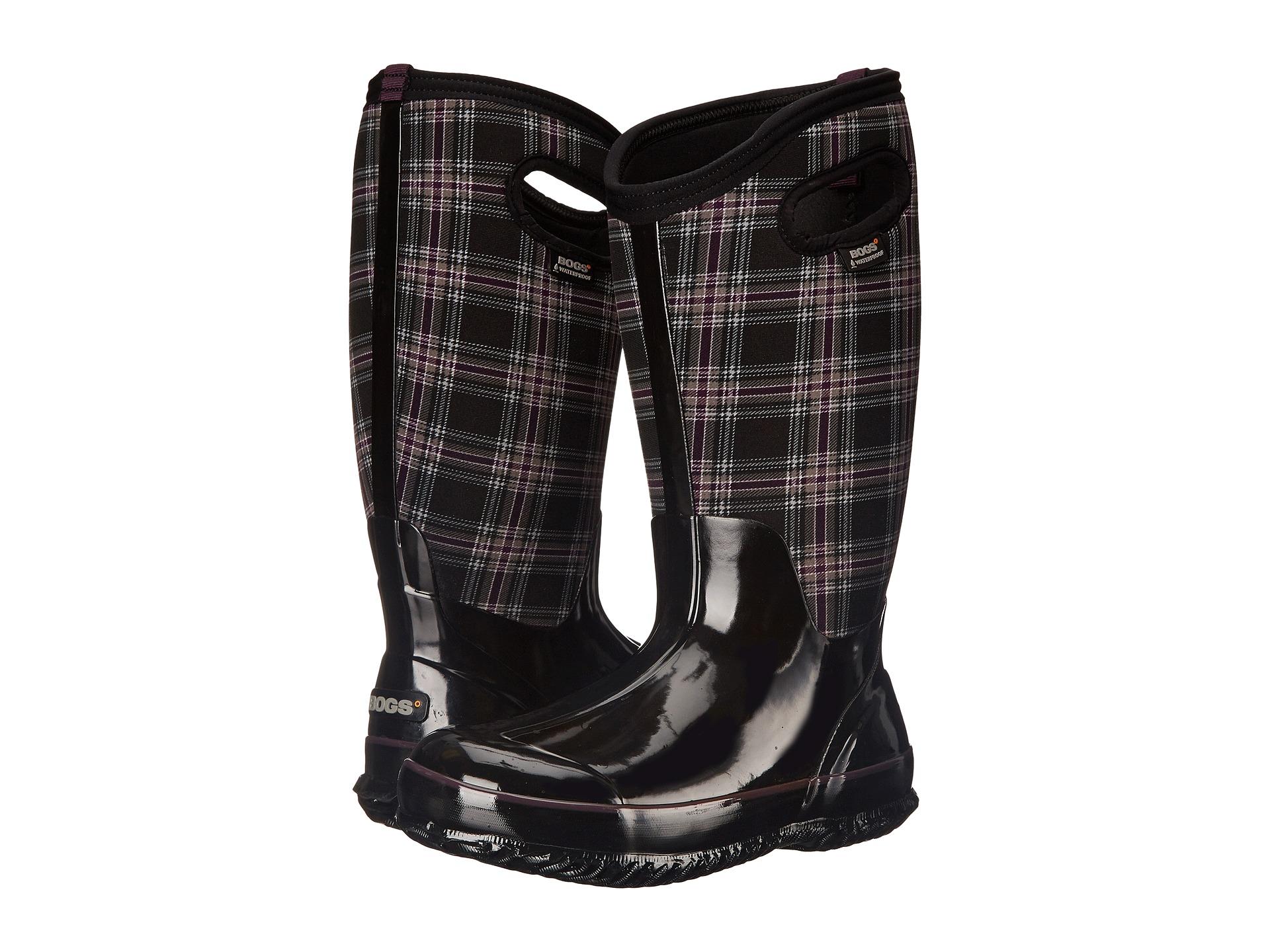 Bogs Classic Winter Plaid Tall Wide Calf Boot - Zappos.com