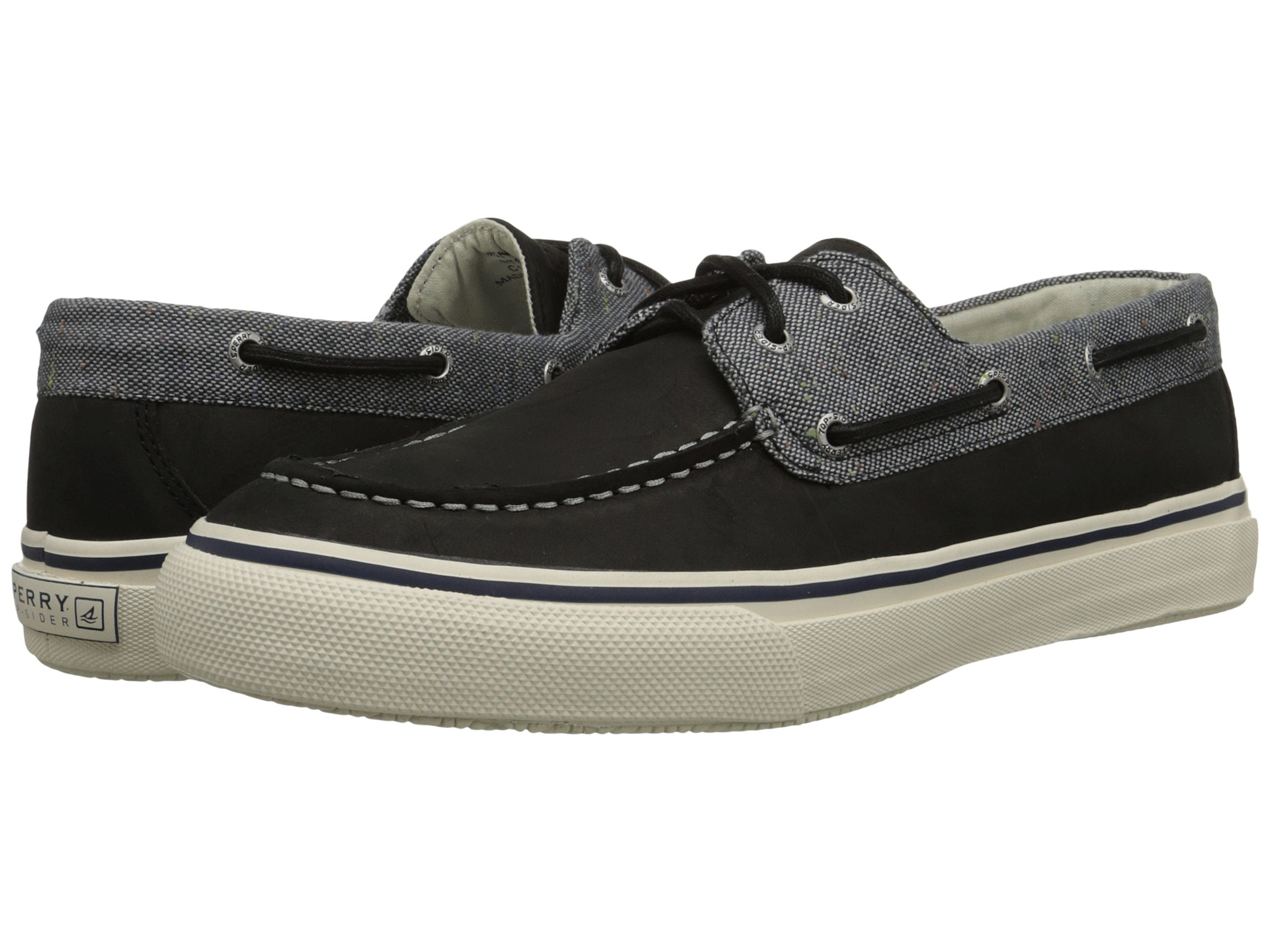 Sperry Bahama  Eye Canvas Leather Boat Shoe