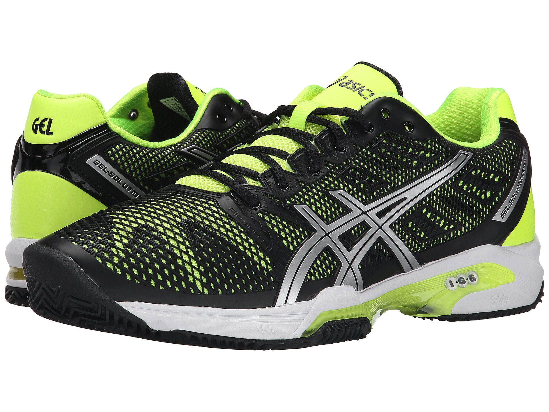 asics gel solution speed 2 clay court navy silver neon. Black Bedroom Furniture Sets. Home Design Ideas