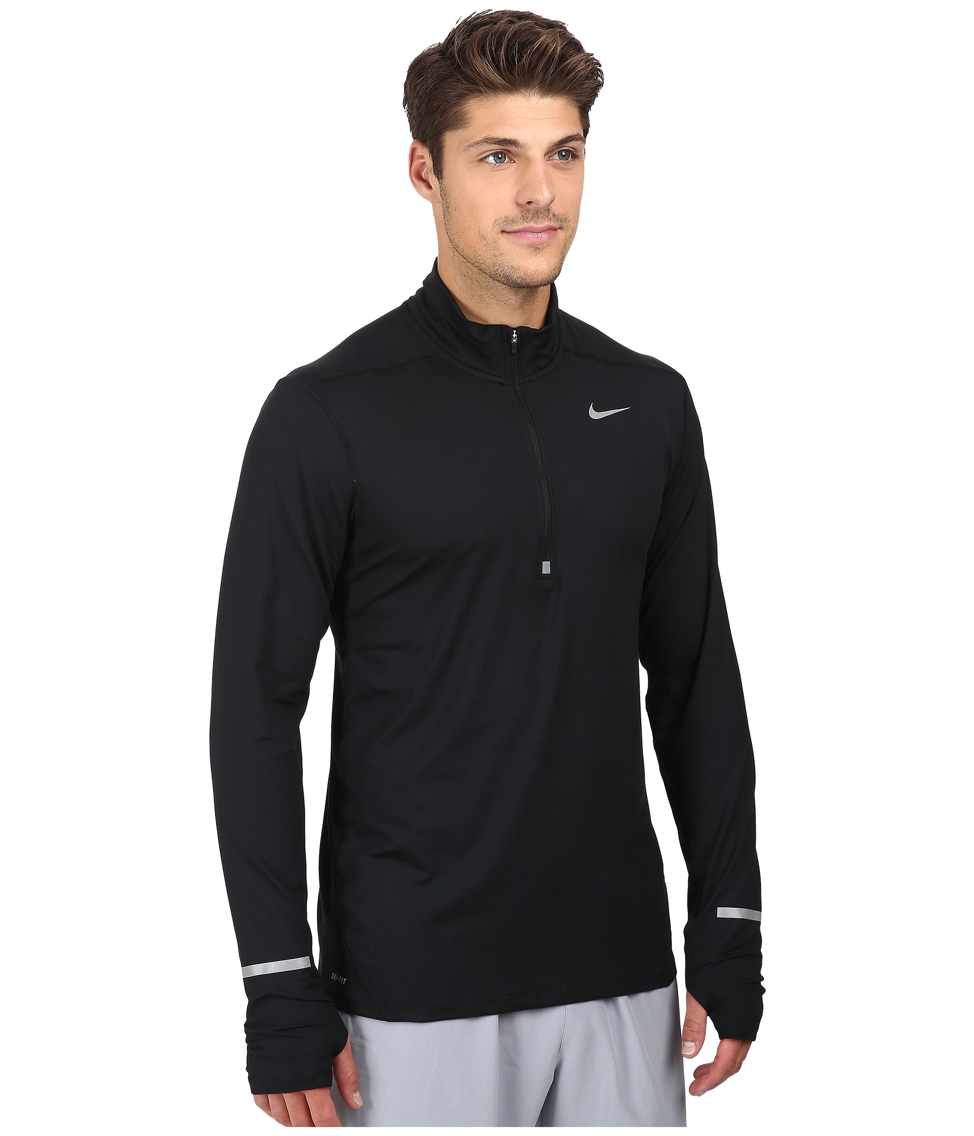 nike dry element long sleeve running top free shipping both ways. Black Bedroom Furniture Sets. Home Design Ideas