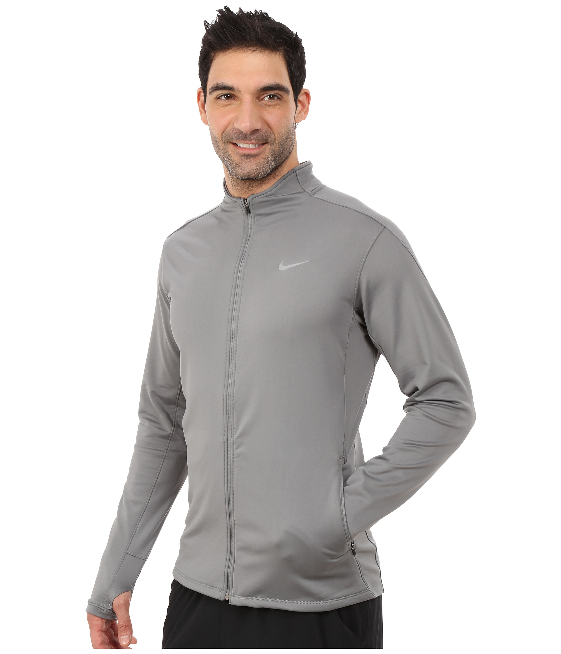 nike dri fit thermal full zip running jacket free shipping both ways. Black Bedroom Furniture Sets. Home Design Ideas