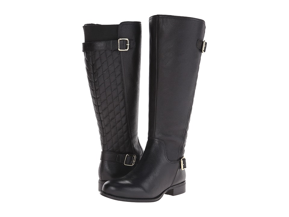 ab10209396eb Naturalizer - Jalyn Wide Calf (Black Pebbled Leather) Women s Wide Shaft  Boots