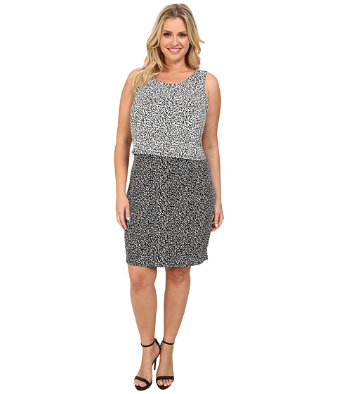 Vince Camuto Plus Plus Size Sleeveless Color Block Dotted ...