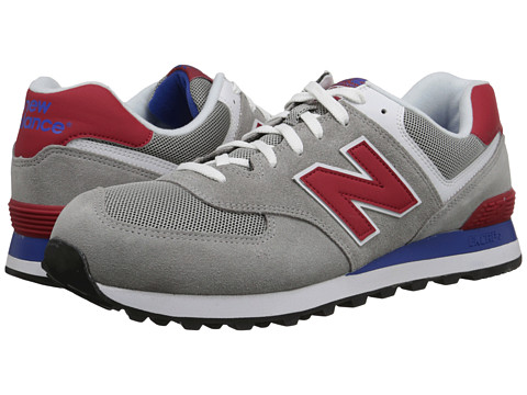 new arrival f5b6b 9ce85 New Balance Classics 574 - Core Plus Grey/Red - Zappos.com Free Shipping  BOTH Ways