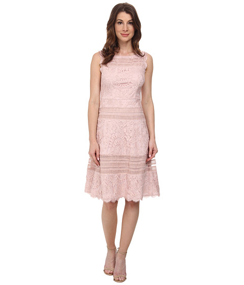 Adrianna Papell Splice Seam Detail Lace Fit And Flare