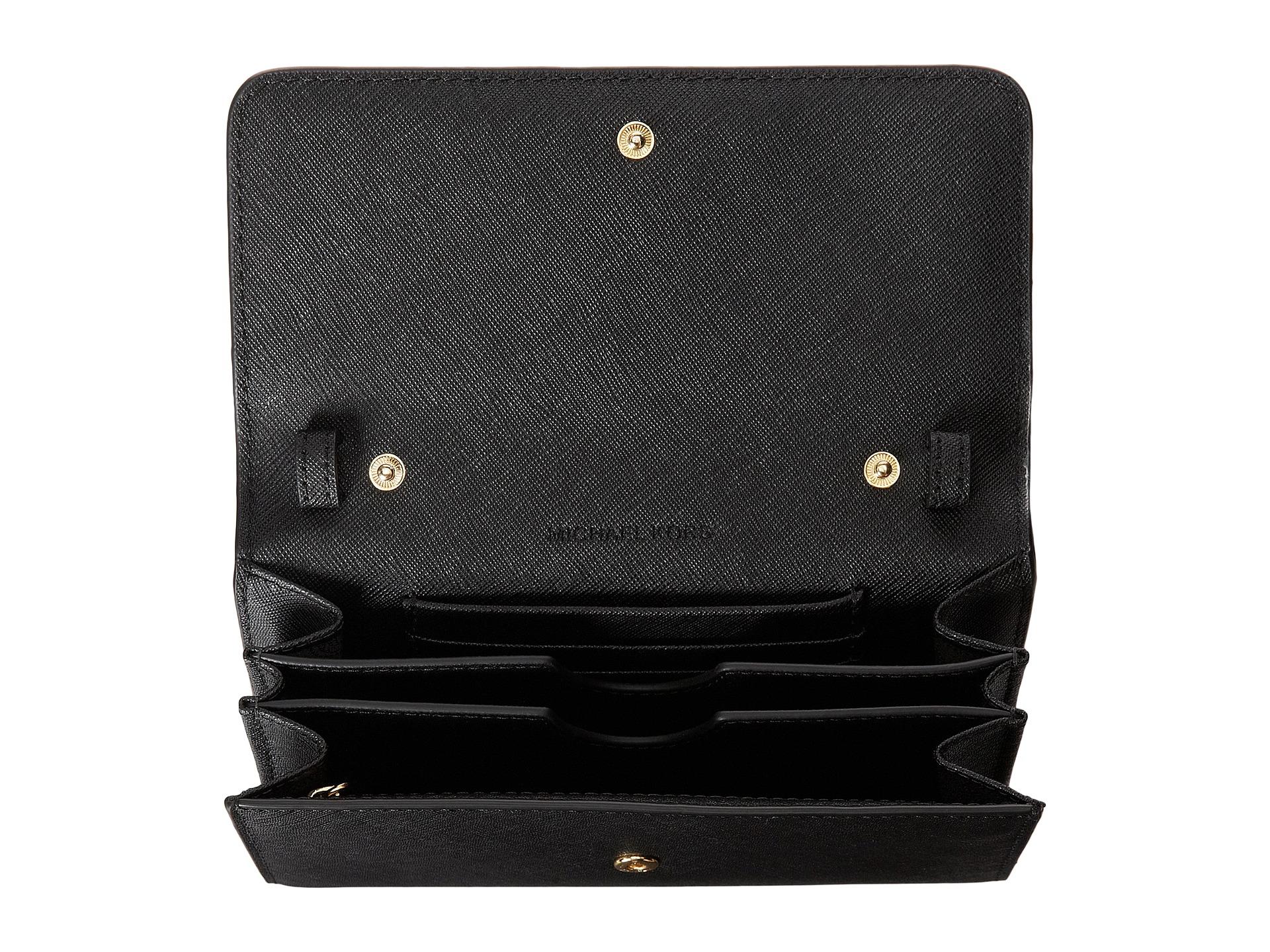 4d9e8753fdd8 michael kors jet set travel wallet on a chain black bedford clutch pink